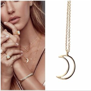 ‼️3 LEFT‼️gold crescent moon charm necklace